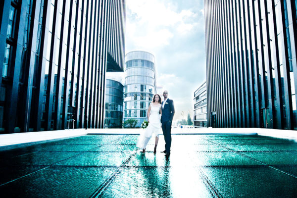moderne und avantgarde Hochzeitsfotografie
